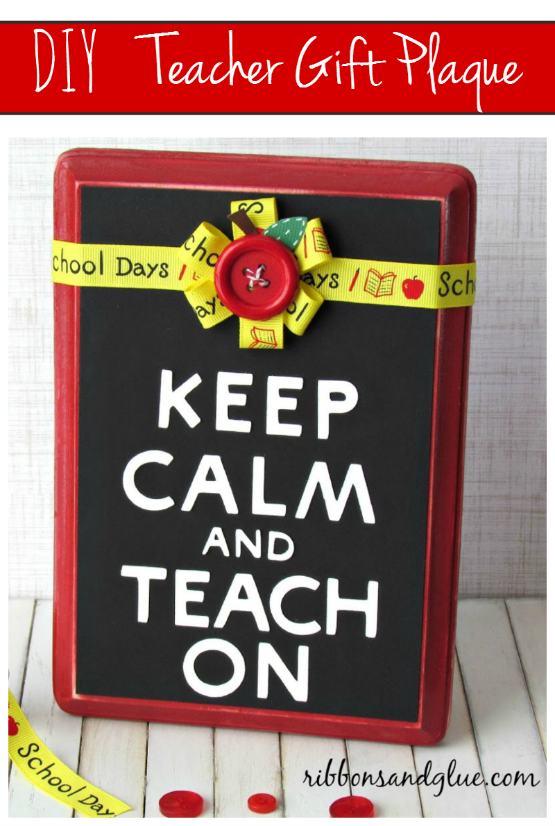 Teacher Gift Plaque Idea