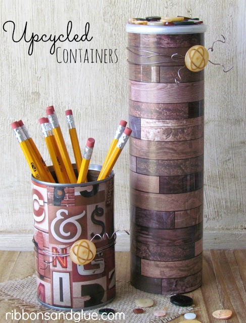 DIY Upcycled containers for Dad