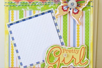 Pretty Girl Canvas made with Scrapbooking Paper
