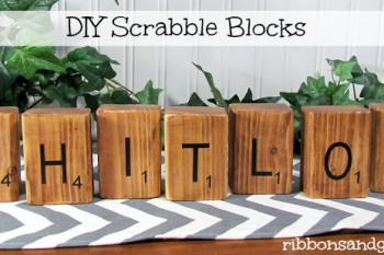 DIY Scrabble blocks