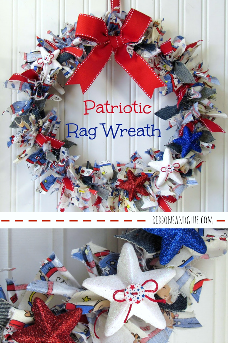 Rag Wreath Tutorial 2