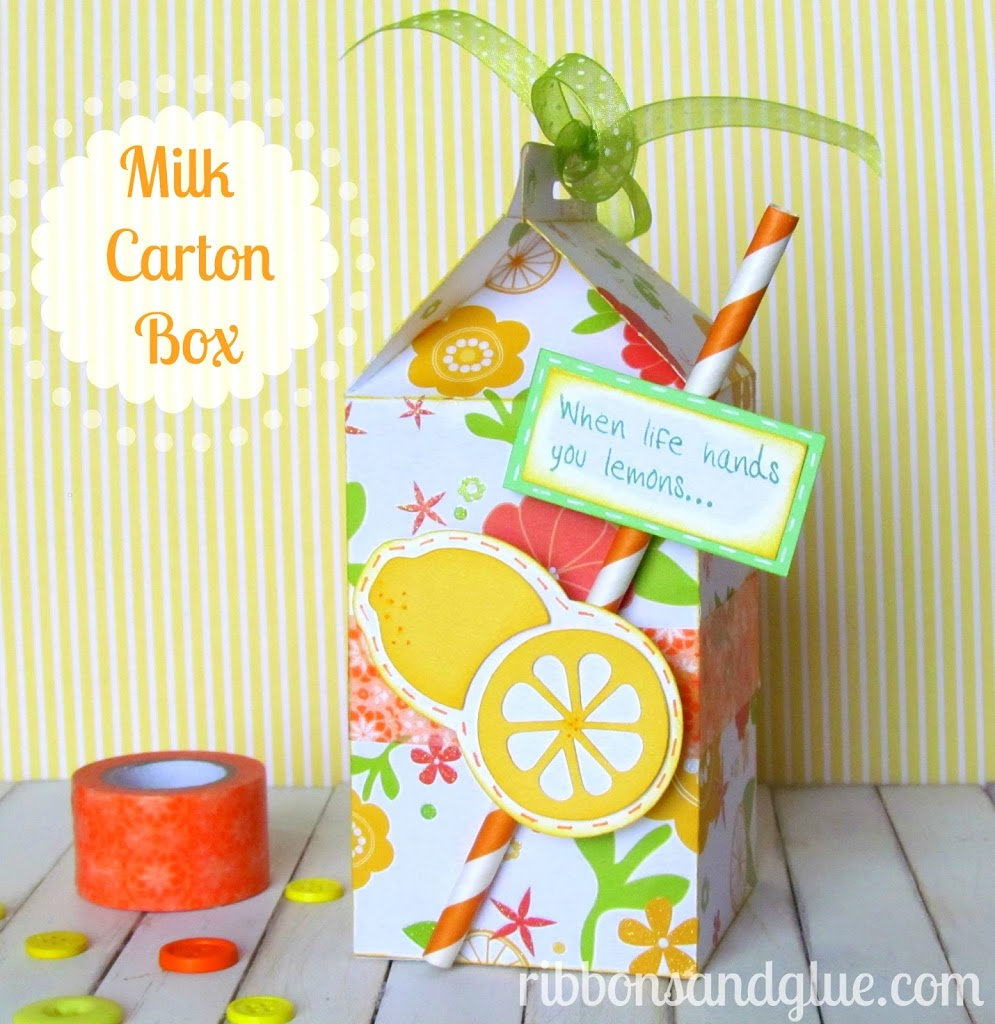 Milk Carton Treat Box made with @silhouettepins. Perfect Summertime Gift!