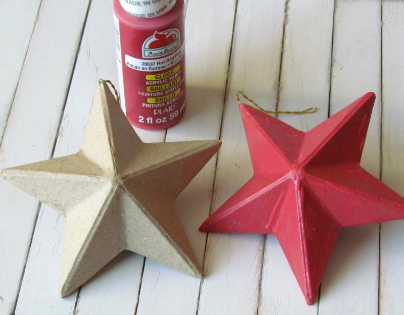 Painted Paper Mache Stars