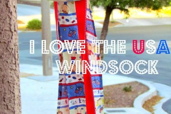 DIY Patriotic Windsock