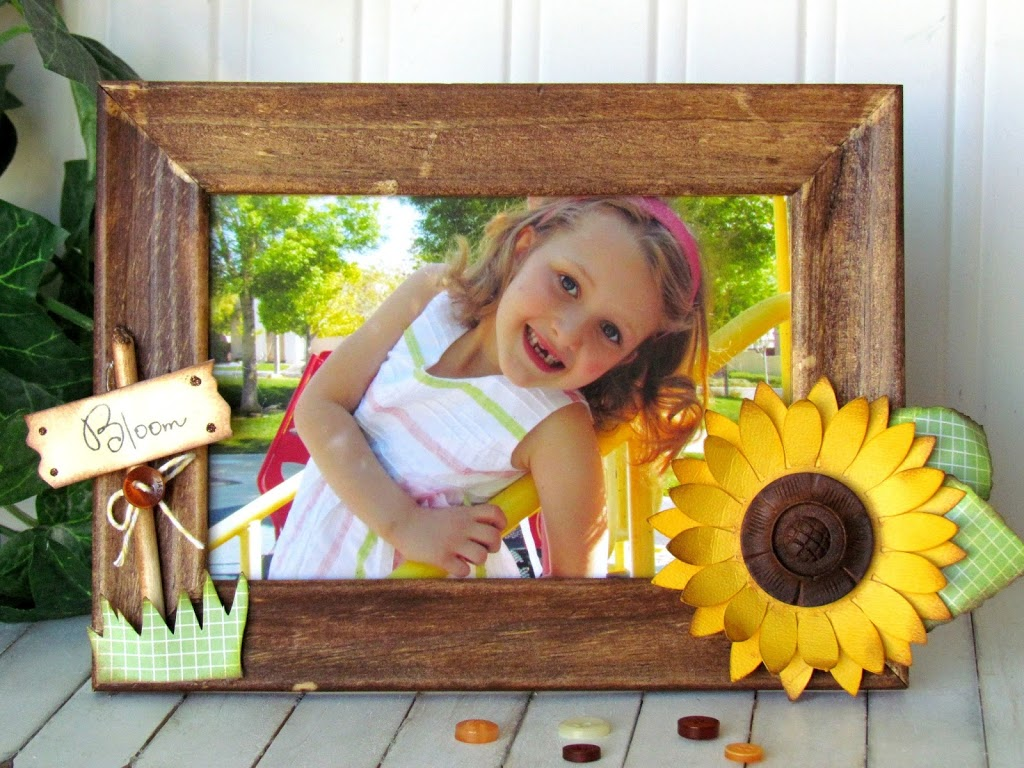 Summer Sunflower Picture Frame
