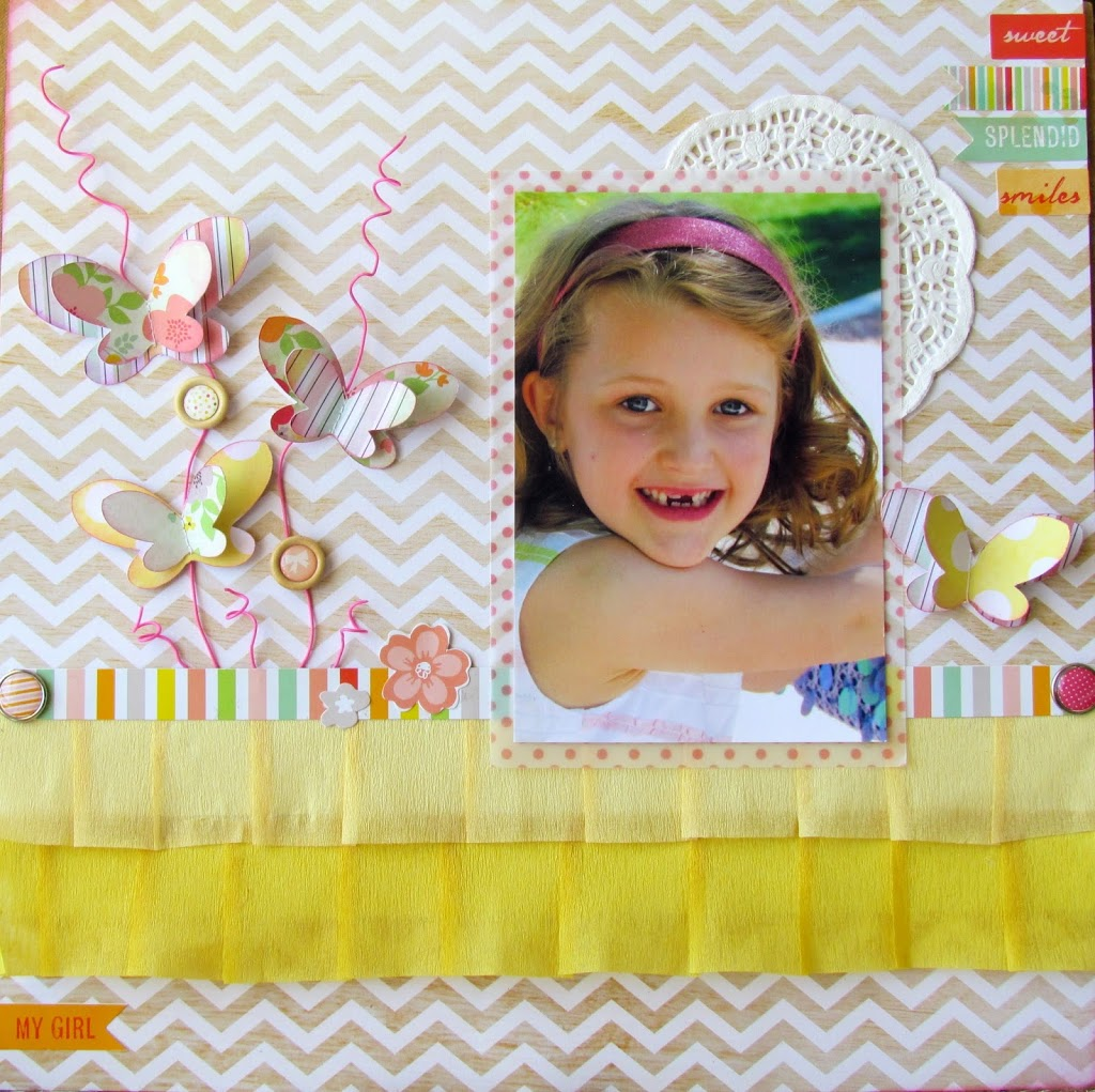 Sweet Smiles Layout @americancrafts