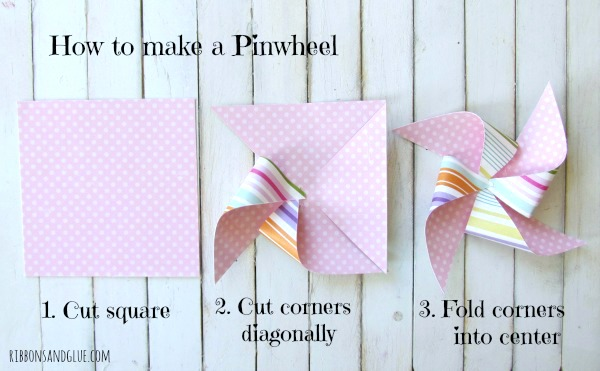 How to make a Pinwheel out of scrapbooking paper