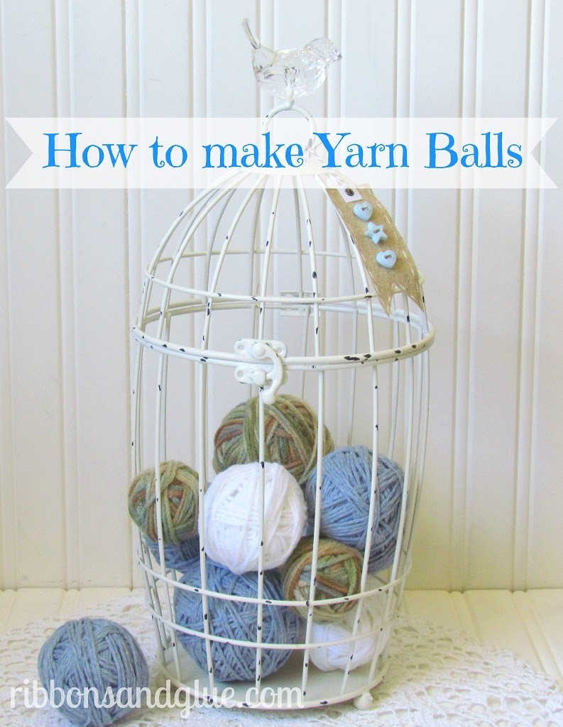 Tutorial on How to Make Yarn Balls. Easy Craft perfect to make for all seasons!