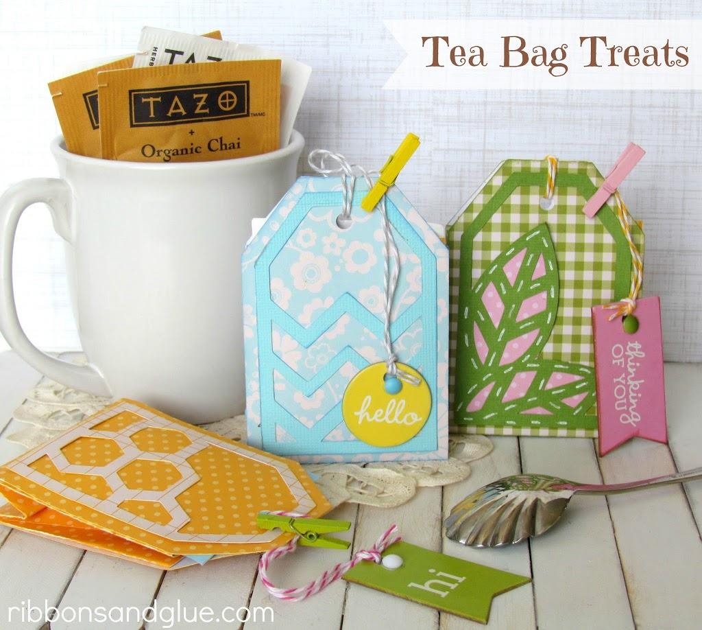 Tea Bag Treats made with @silhouettepins and @pebblesinc Basics Line