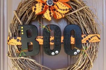 Boo Wreath #halloween