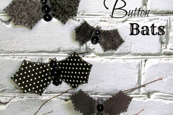 Simple Buttons Bats made from @pebblesinc Thirty One collection and @buttonsgalore buttons