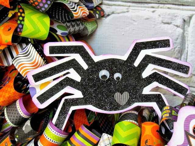 Halloween spider made with a Silhouette cut file.