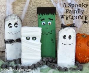 DIY Spooky Halloween family