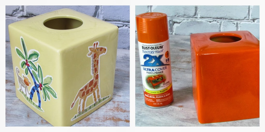 Halloween Tissue Box Makeover