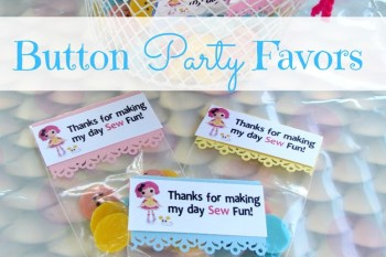 DIY Chocolate Button Party Favors