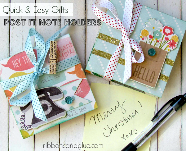 Super Easy and Pratical Gift- How to make Post It Note Holders. Prefect Teacher Gift Idea!