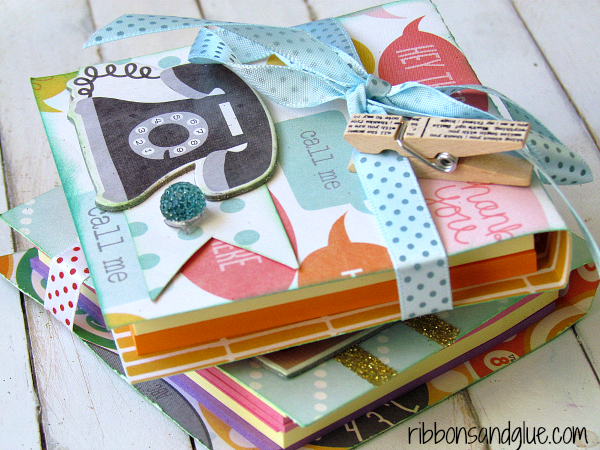 How to make DIY Post it Note Holders. Perfect Teacher Gift Idea!