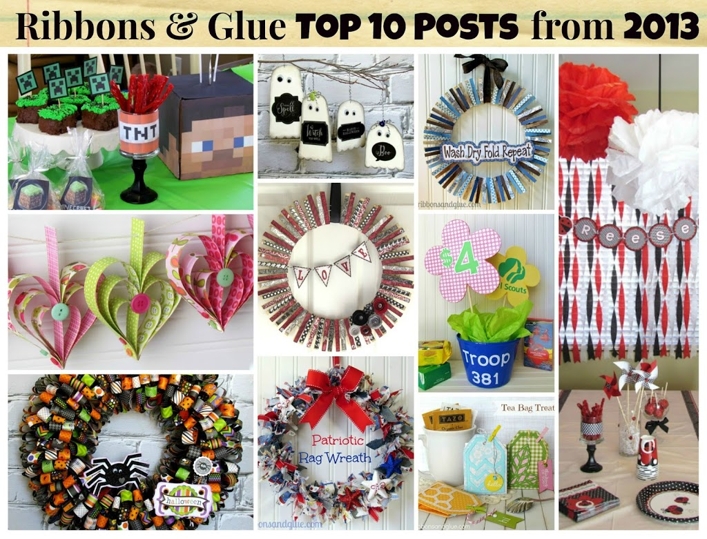 Top 10 Projects 2013 from Ribbons & Glue Blog. www.ribbonsandglue.com