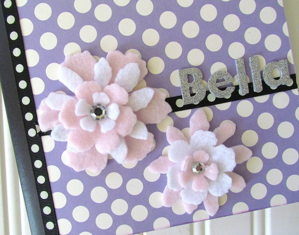 Tim Holtz Tattered Flower Dies are perfect to use with felt.