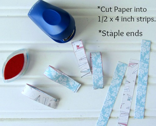How to make paper ribbons out of scrapbooking paper