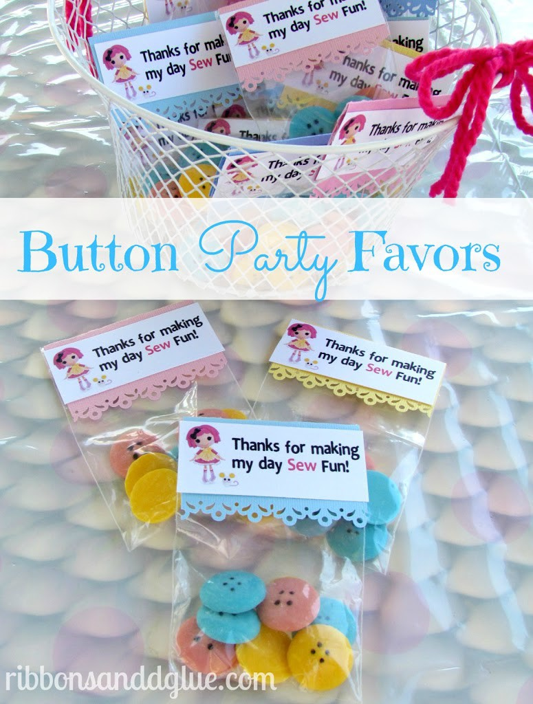 Chocolate Button Party Favors
