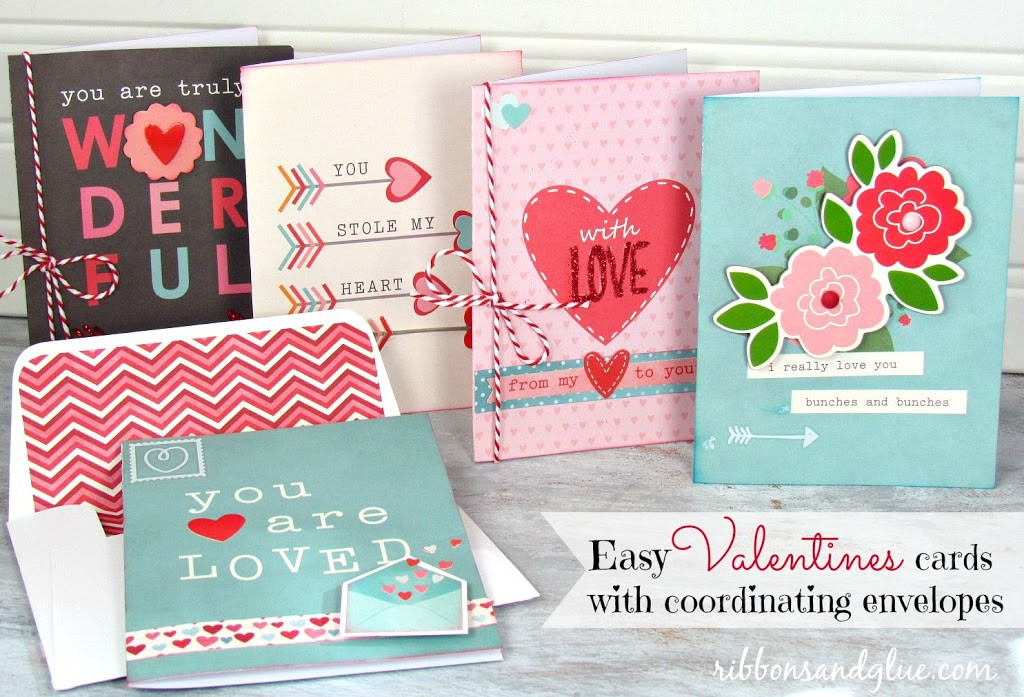 Valentines Cards with Coordinating Envelopes