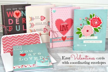 Valentine Cards with Coordinating Envelopes