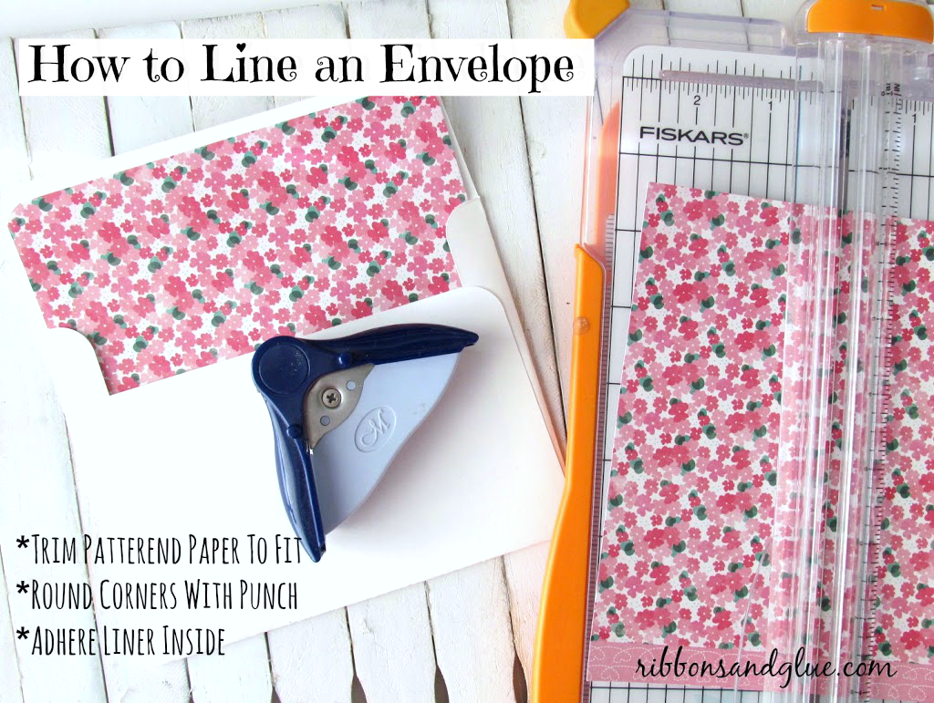 How to line envelopes with scrapbooking paper