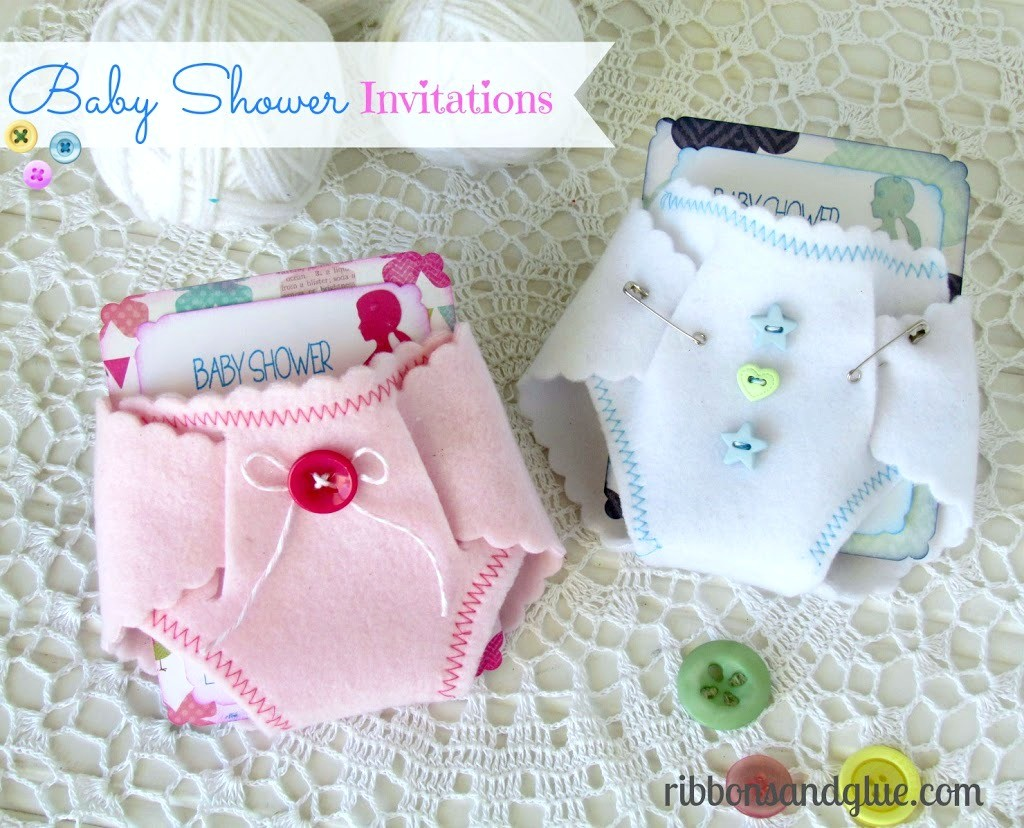 Baby Shower Felt Diaper Invitations Made With A Die And Silhouette. Such A Unique  Baby