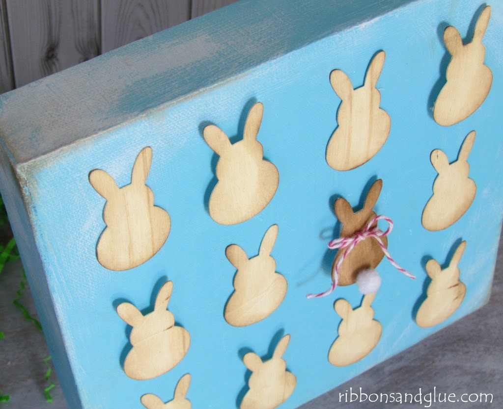 Bunny Specimen Art made out of wood paper.   Easy Easter Craft Idea