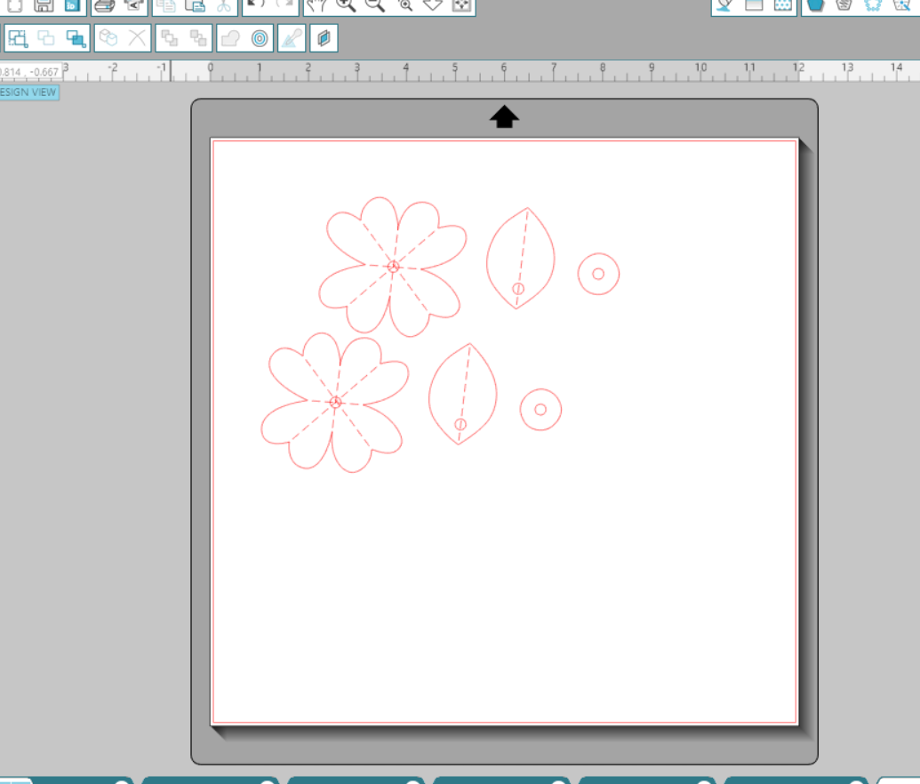 Paper Straw Blossom cut file on Silhouette
