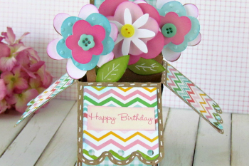 Flower Pot Box Card