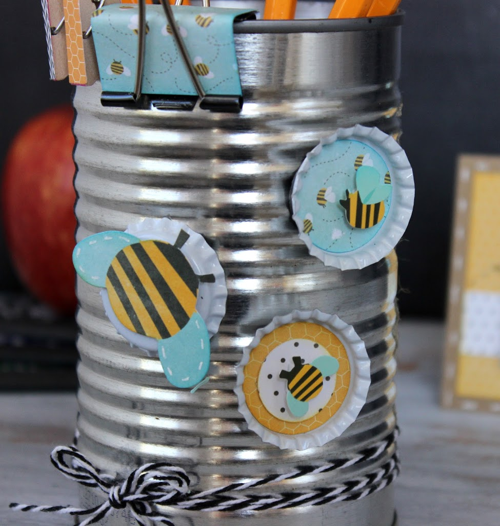 DIY Bee Magnets made out of bottle caps