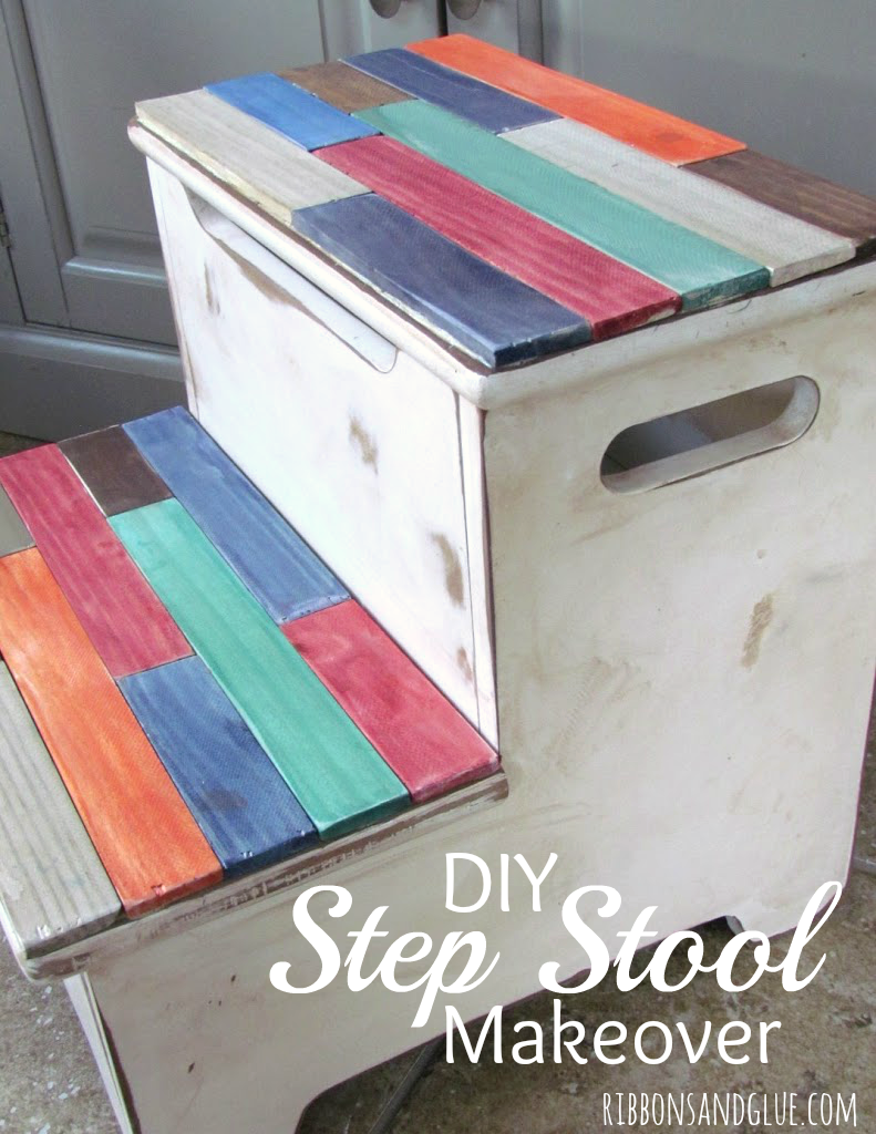 Step Stool Makeover
