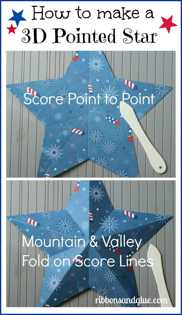 How to make a 3D Stars using a Score Board.  Such an easy papercraft technique!