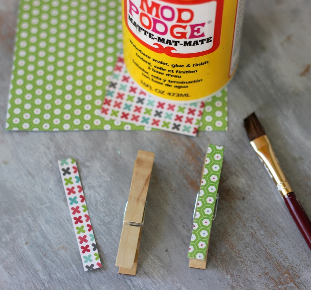 Mod-Podge-Clothespins