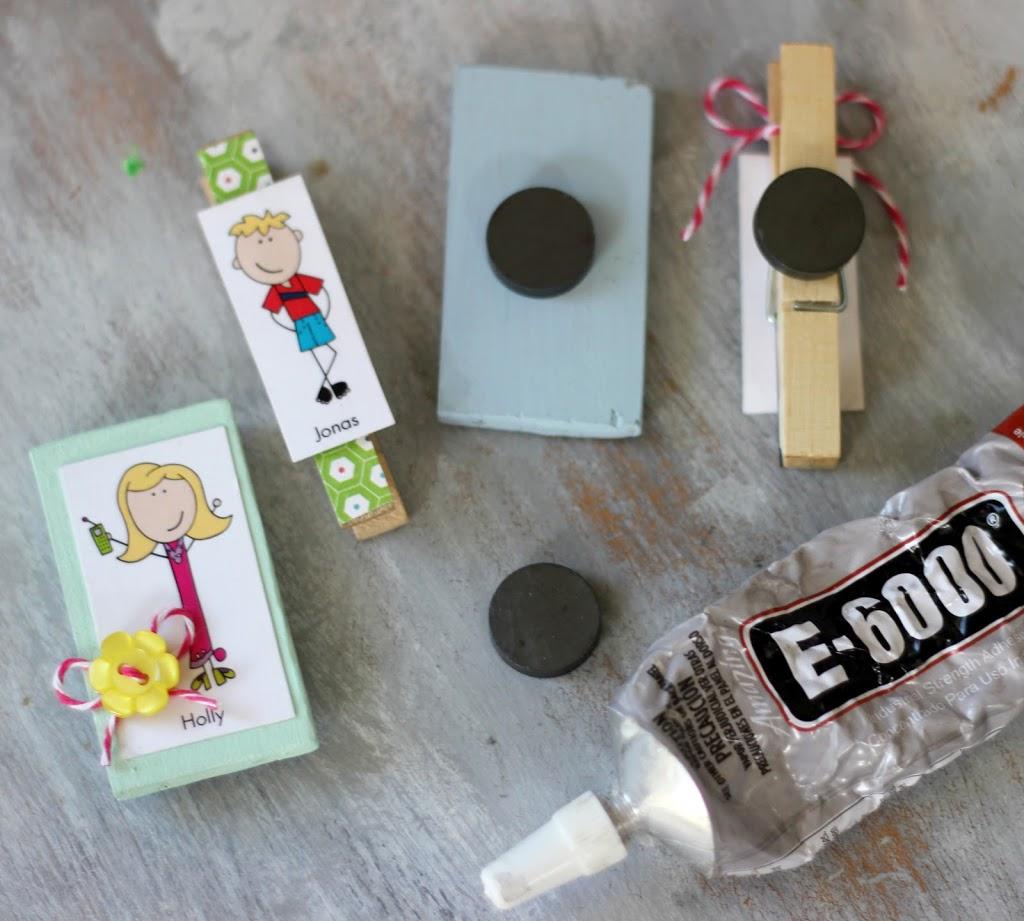 use E6000 to glue magnets