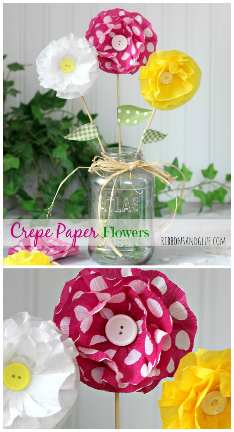 How to make crepe paper flowers how to make crepe paper flowers all you need is pretty crepe paper and hot mightylinksfo