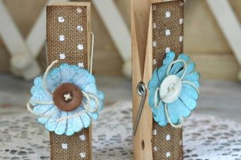 How to make Burlap Clothespins
