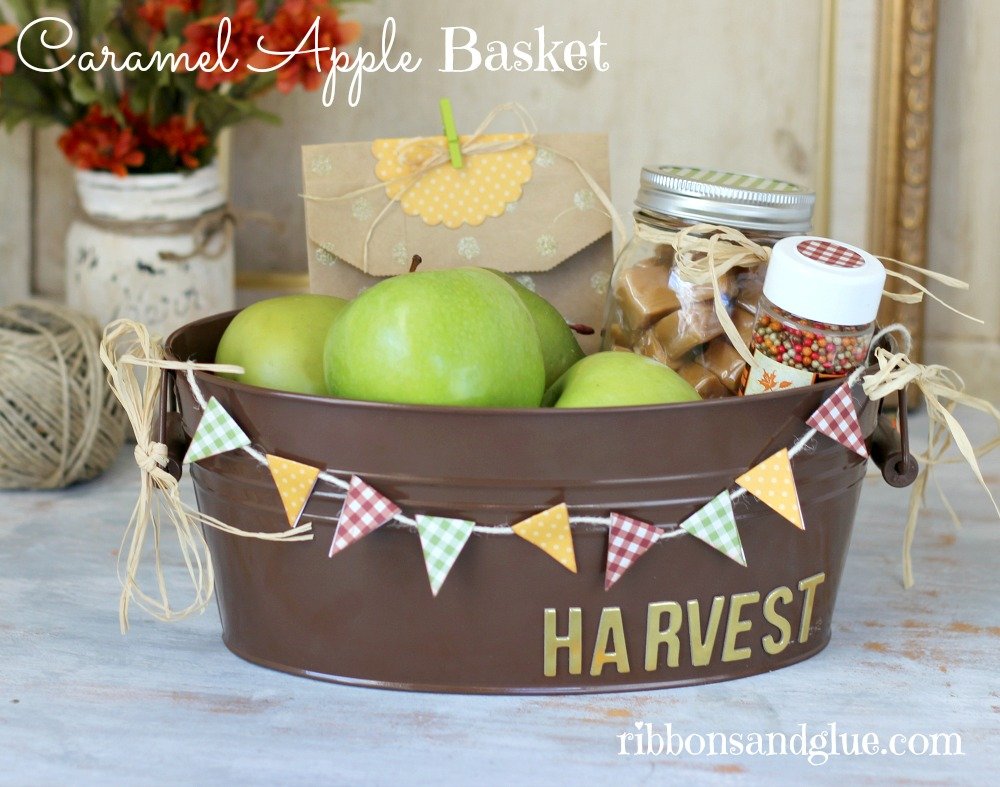 fall caramel apple basket