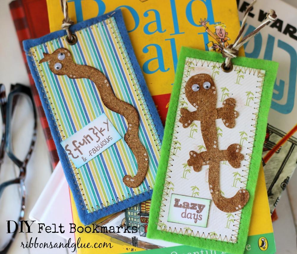 Felt Bookmark with Cork Pet Shop Dies #laurakellyart #sizzix