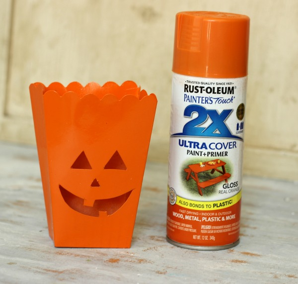 how to make a Pumpkin Tealight Holder made out of a popcorn box