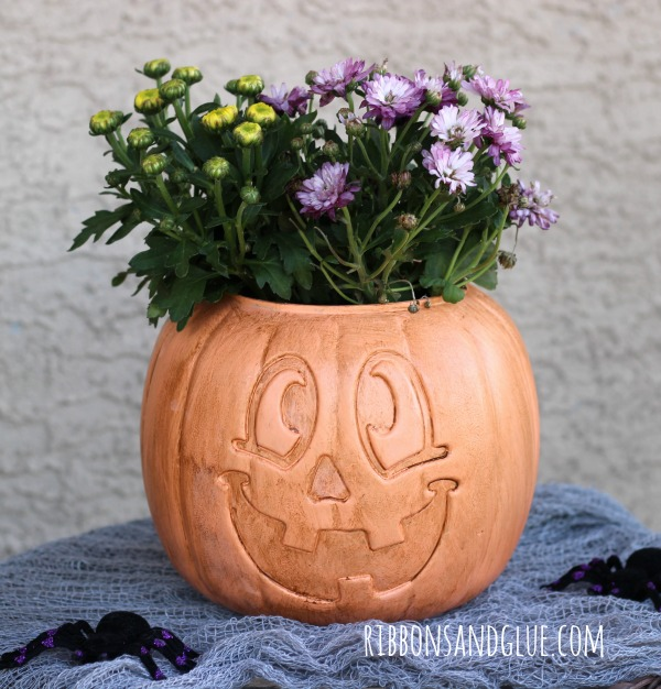 DIY Faux Terracotta Pumpkin Plante