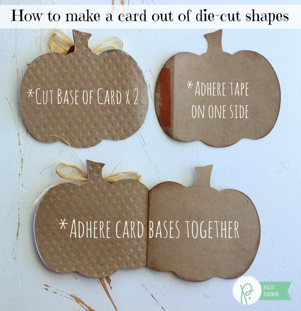 How to make a shaped  card from a die cut