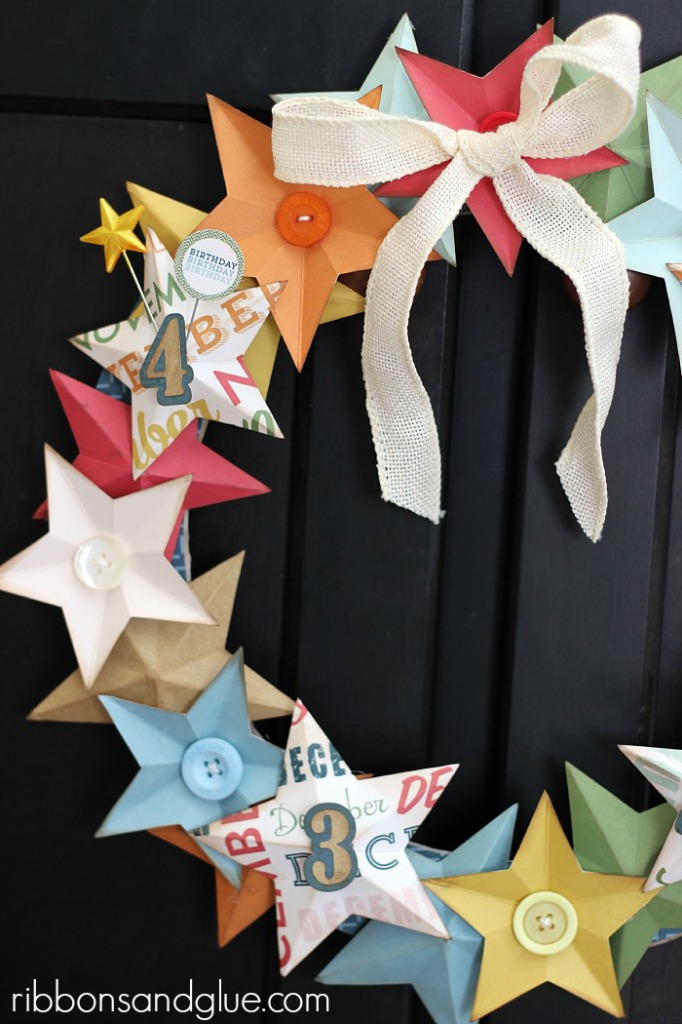 Birthday Star Wreath made with @echoparkpaper