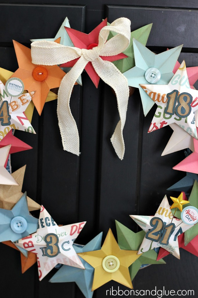 Birthday Star Wreath @echoparkpaper and @silhouettepins