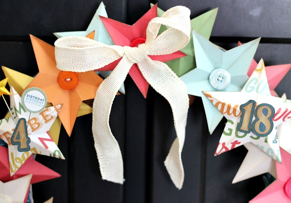 Birthday Star Wreath