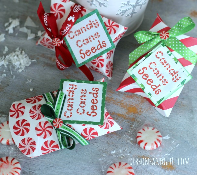 Pillow Box to hold Candy Cane Seeds