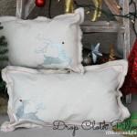 Christmas Drop Cloth Pillows