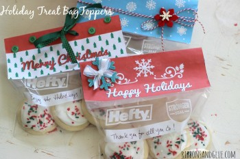 Printable Holiday Treat Bag Toppers